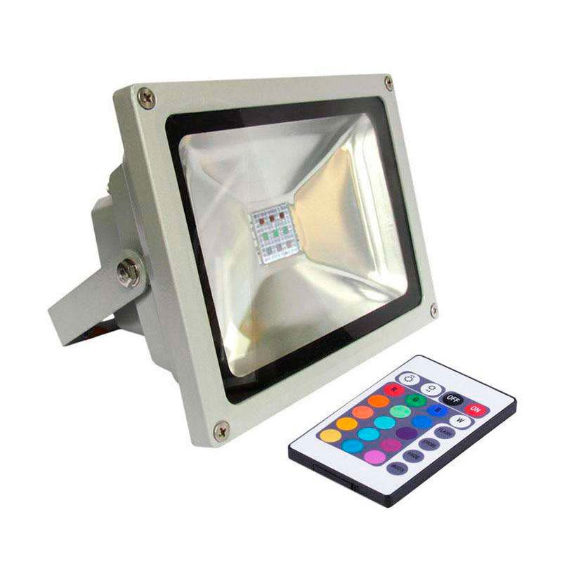 Led outdoor flood light MICROLED, 30W, RGB, RGB